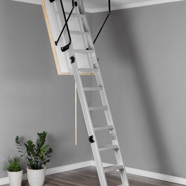 Лестница чердачная складная алюминиевая 3-х секционная ALU PROFI POLAP