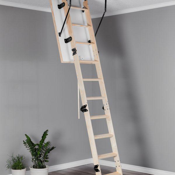 Лестница чердачная складная деревянная 4-х секционная COMPACT TERMO