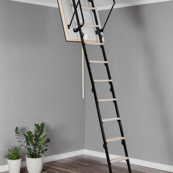 Лестница чердачная складная комбинированная 4-х секционная Противопожарная STALLUX EI45