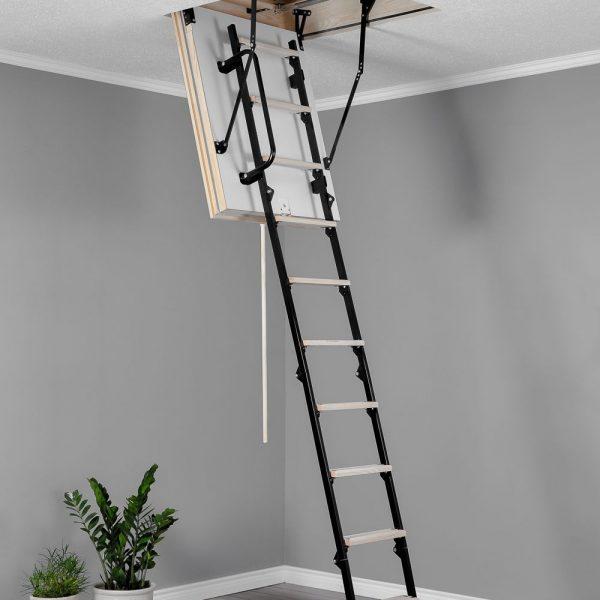 Лестница чердачная складная комбинированная 4-х секционная MINI POLAR