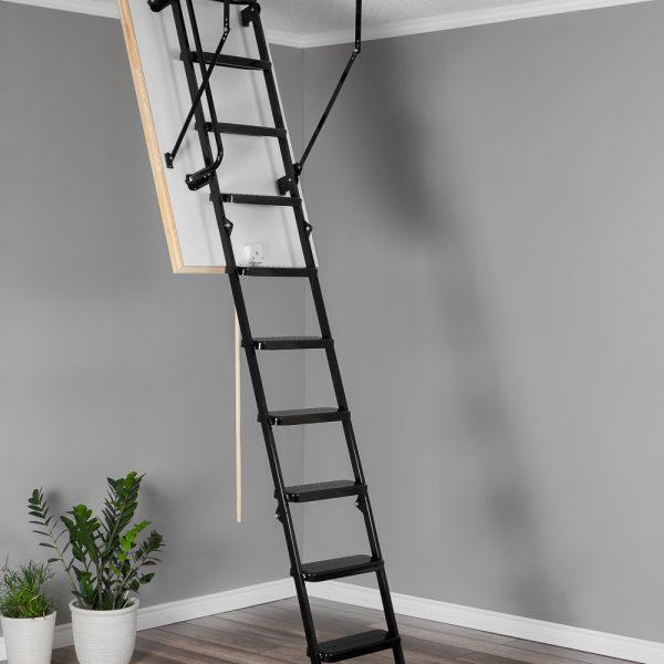 Лестница чердачная складная металлическая 3-х секционная METAL T3 EXTRA