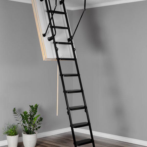 Лестница чердачная складная металлическая 3-х секционная METAL T3 SUPER