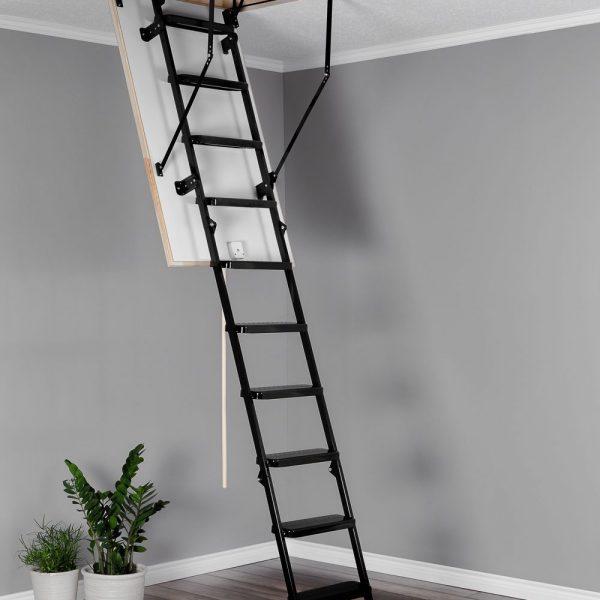 Лестница чердачная складная металлическая 3-х секционная METAL T3
