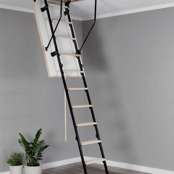 Лестница чердачная складная комбинированная 3-х секционная STALLUX