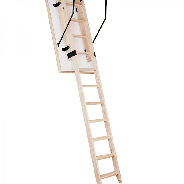 Лестница чердачная деревянная раздвижная 2 -х секционная SLIDING