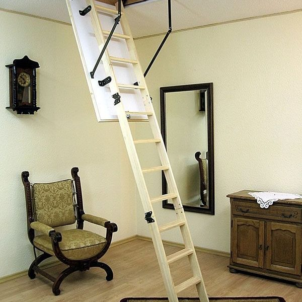 Лестница чердачная складная деревянная 3-х секционная TERMO