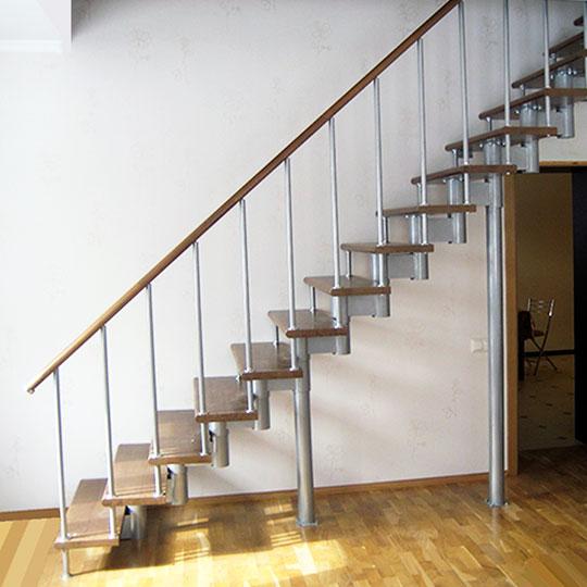 Модульная лестница «Престиж» с прямым маршем