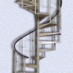 Лестница металлическая винтовая