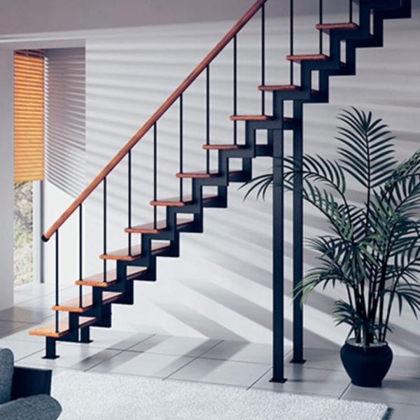Модульная лестница «Элегант» на двух косоурах