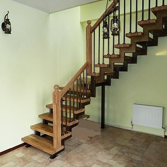 Модульная лестница «SUPER ELEGANTE» Г-образная